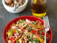 Mixed Pepper and Turkey Pasta recipe