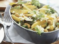 Mixed Potato Salad with Cashews and Cheese recipe