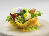 Mixed Salad in Parmesan Nests recipe