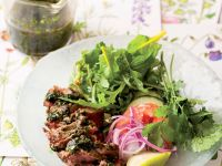 Mixed Salad with Beef and a Herb Dressing recipe