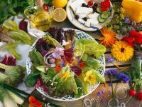 Mixed Salad with Edible Flowers recipe