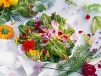 Mixed Salad with Flowers recipe
