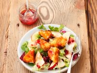 Mixed Salad with Fried Camembert recipe