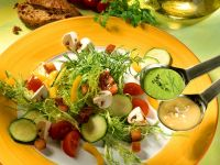 Mixed Salad with Herb Sauce and Vinaigrette recipe