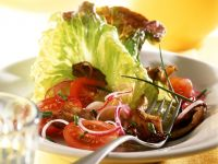 Mixed Salad with Oyster Mushrooms recipe