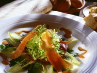 Mixed Salad with Salmon and Mustard Dressing recipe