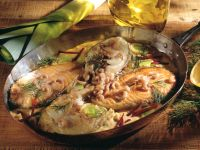 Mixed Seafood Skillet with Beets and Dill recipe