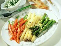 Mixed Vegetables with Egg Suace recipe