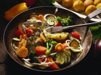 Mixed Vegetables with Fried Chickpeas Balls recipe