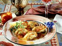 Monkfish Cutlets with Tomatoes recipe