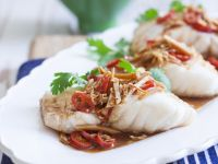 Monkfish Fillets with Spicy Sauce recipe
