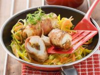 Monkfish Involtini with Dates and Bacon recipe