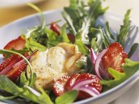 Monkfish Medallions on Fruity Salad recipe