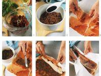 Monkfish Packets with Pesto Ham recipe