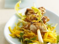 Monkfish Skewers with Mango Salad recipe