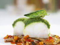 Monkfish with Artichokes and Ratatouille recipe