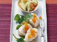 Monkfish with Avocado Salad recipe