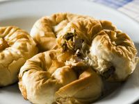 Moroccan-style Chicken and Olive Puff Pastries recipe