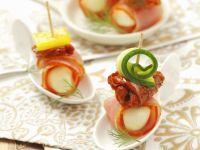 Mozzarella and Ham Canapes recipe
