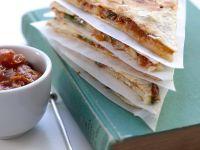 Mozzarella Quesadillas with Tomato Relish recipe