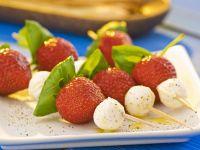 Mozzarella-Strawberry Skewers recipe