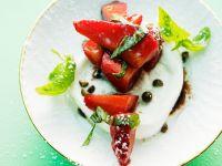 Mozzarella with Strawberries and Basil recipe