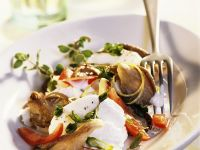 Mozzarella with Tomatoes and Mushrooms recipe