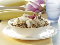 Muesli with Banana, Melon and Sprouts recipe