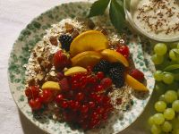 Muesli with Hazelnuts, Fresh Fruit and Yogurt recipe
