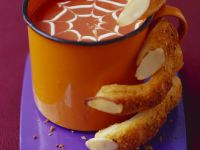 Mug of Soup with Grissini Fingers recipe