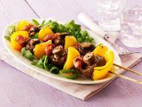 Mushroom and Bell Pepper Skewers recipe