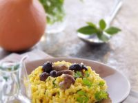 Golden Creamy Mushroom Rice recipe