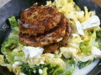 Mushroom and Quark Patties with Savoy Cabbage recipe