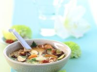 Mushroom and Rice Soup recipe