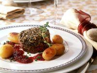 Mushroom-Crusted Beef Medallions recipe