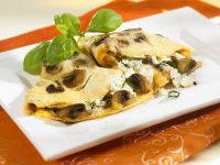 Mushroom Omelet with Cottage Cheese recipe