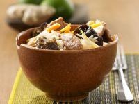 Mushroom, Pork, and Mushrooms over Rice recipe