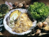 Mushroom Sauerkraut with Baked Potato recipe