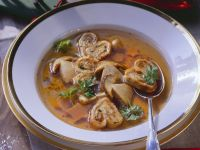 Mushroom Soup with Crepes recipe