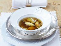 Mushroom Soup with Polenta Dumplings recipe