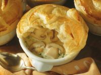 Mushroom Soup with Puff Pastry Crust recipe