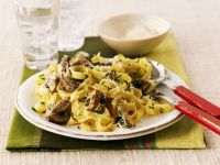 Mushroom Tagliatelle with Chives recipe