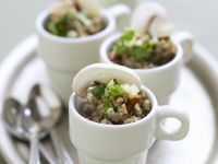 Mushroom Tartare with Cilantro recipe