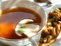 Mushroom Topped Toast with Broth recipe