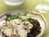 Mushrooms and Oyster Saute over Black Rice recipe