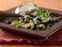 Mushrooms with Herb-Nut Crust