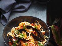 Mussel and Calamari Pasta recipe
