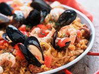 Mussel and Prawn Spanish Rice recipe