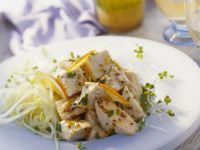Mustard Chicken and Sprout Salad recipe