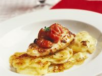Mustard Chicken with Scalloped Potatoes recipe